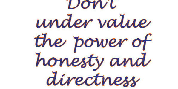 Outward Honesty – Your Sales Director Can't Help